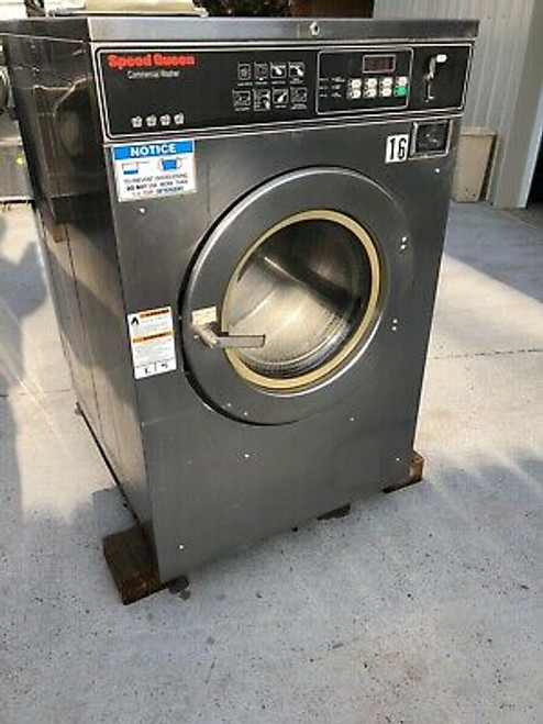 Speed Queen SC35NC2OU40554 Front Load Washer Coin Op 35LB, 208-240V, S/N: 100179441