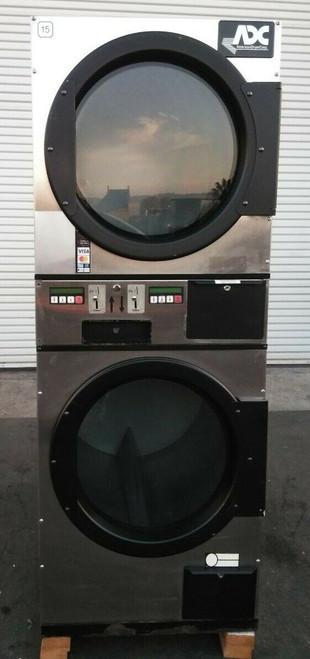 ADC (American Dryer Corp) ADG236D Stack Dryer Coin Op 30LB 120V, S/N: 495188 ET