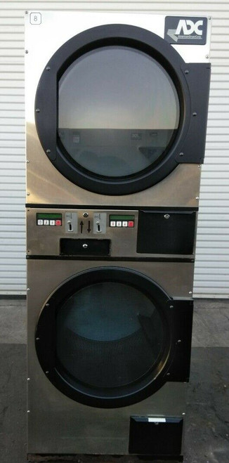 ADC (American Dryer Corp) ADG236D Stack Dryer Coin Op 30LB 120V, S/N: 495187 ET
