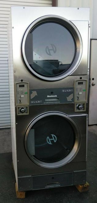Huebsch HTT30NBCB2G2N02 Stack Dryer Coin Op 30LB, 120VAC 60Hz 1PH, S/N: 1204014335