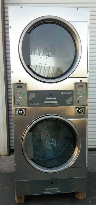 Huebsch HTT30NBCB2G2W01 Stack Dryer Coin Op 30LB, 120VAC 60Hz 1PH, S/N: 1108029813