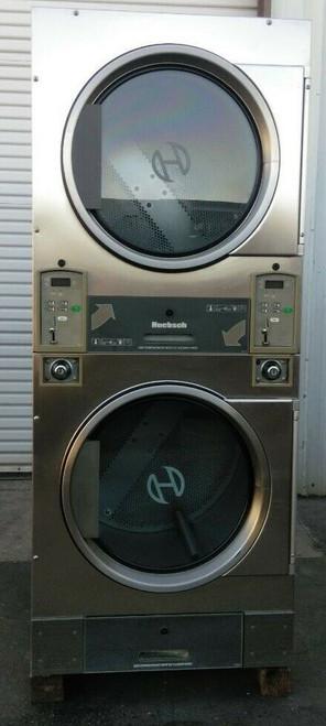 Huebsch HTT30NBCB2G2N02 Stack Dryer Coin Op 30LB, 120VAC 60Hz 1PH, S/N: 1204003838