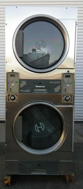 Huebsch HTT30NBCB2G2N02 Stack Dryer Coin Op 30LB, 120VAC 60Hz 1PH, S/N: 1204003846