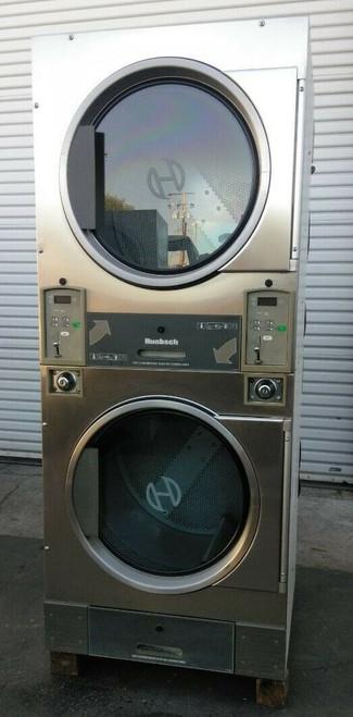 Huebsch HTT30NBCB2G2N02 Stack Dryer Coin Op 30LB, 120VAC 60Hz 1PH, S/N: 1204014331