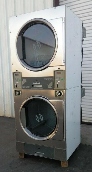 Huebsch HTT30NBCB2G2N02 Stack Dryer Coin Op 30LB, 120VAC 60Hz 1PH, S/N: 1204003845