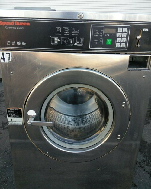 Speed Queen SC40 3PH Front Load Washer Coin Op 40LB, SC40BC2OU60001 S/N: 0501977472 REFURBISHED