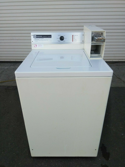 Maytag Commercial Coin Op Top Load Washer 1PH 120V MAT12CSAAW
