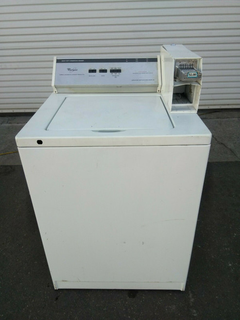 Whirlpool Commercial Coin OpTop Load Washer 1PH 120V M/N: CAM2742T02
