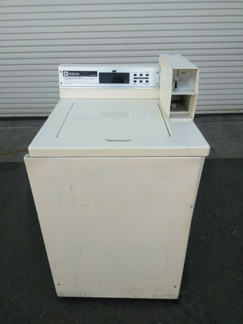 Maytag Top Commercial Coin Op Load Washer 1PH 120V M/N: MAT12PDDAQ