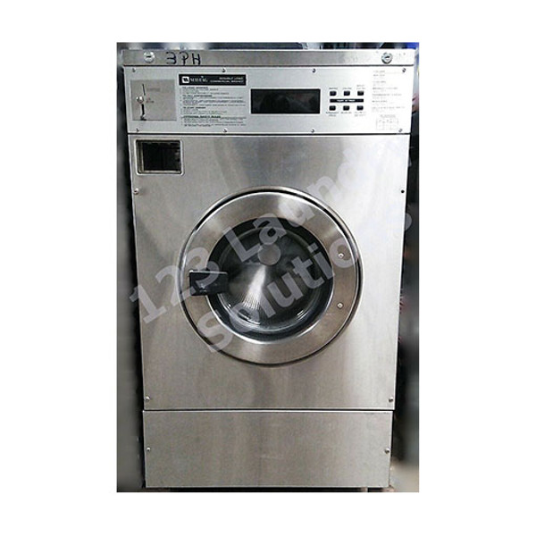 Maytag Front Load Washer 25LB Coin Op MFR25PDAVS Stainless Steel 3phase ( USED )