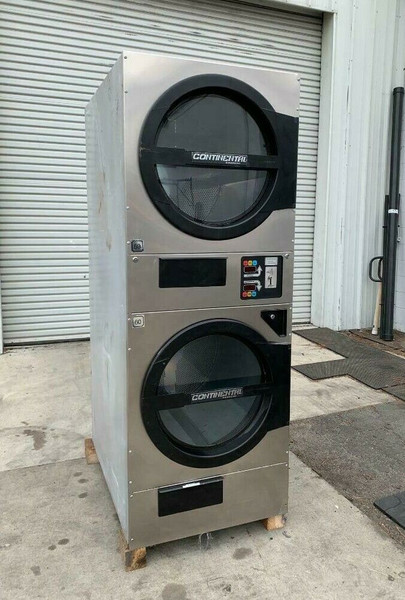 American Dryer ADC ADG330D Stack Dryer, 30Lb, Stainless S/N 472446CC [REF]