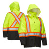 Safety Rain Jacket with Snap-off Hood