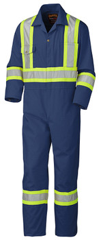 Navy Blue Hi Vis Coveralls
