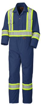 Navy Blue Hi Vis Coveralls Tall
