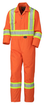 Orange Hi Vis Coveralls Tall