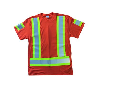 Orange Hi Vis T-Shirt Front