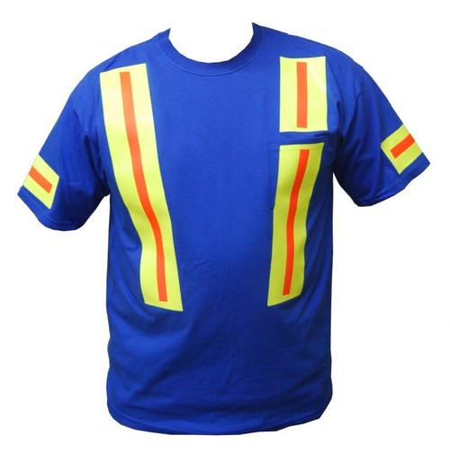 Royal Blue Hi Vision T-Shirt with Pocket Front