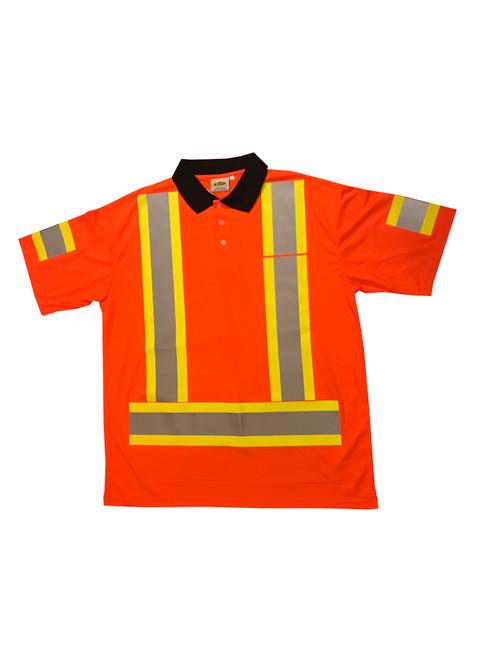 205 Hi Vis Mesh Polo Shirt Front
