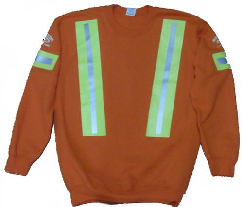 Orange Hi Vision Crewneck Sweatshirt Front