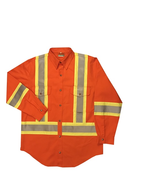 Orange Work Shirt Front