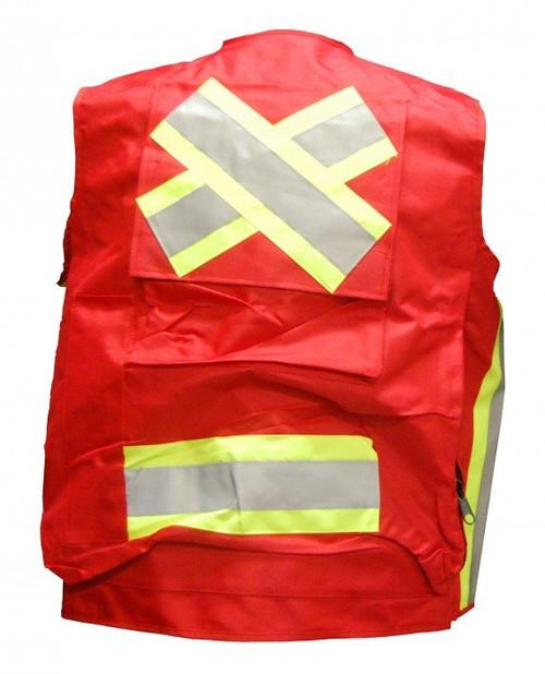Red Surveyor Vest Back