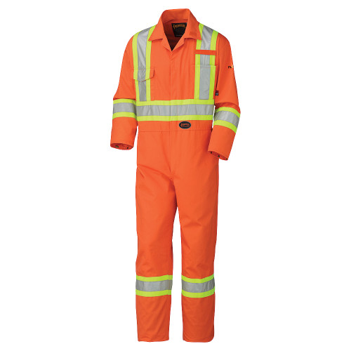 Flame Resistant Cotton Safety Coverall - Orange