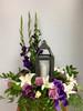Sweet Flowers with Decorative Lantern