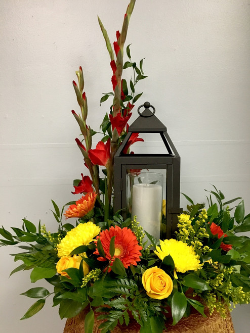 Lucious Blooms and Lantern