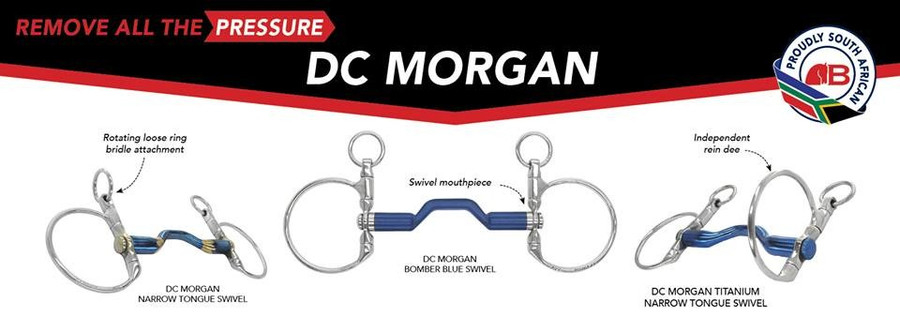Bomber DC Morgan Happy Tongue Straight Titanium Dressage