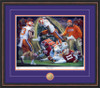 Shown in our Walnut frame with Purple/Orange matting