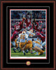 Shown in our Mahogany frame with Black/Crimson matting