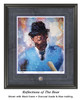 """""""Reflections of the Bear"""" print shown in our Black frame with Charcoal Suede/Blue matting."""