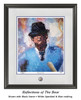 """""""Reflections of the Bear"""" print shown in our Black frame with White Speckled/Blue matting."""