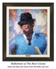 """""""Reflections of the Bear"""" canvas shown in our Gloss Onyx frame with white linen liner."""