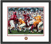 Shown in our Black frame with White/Crimson matting