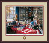 Shown in our Mahogany frame with Oyster/Red/Navy matting