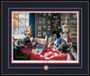 Shown in our Black frame with Navy/Red matting