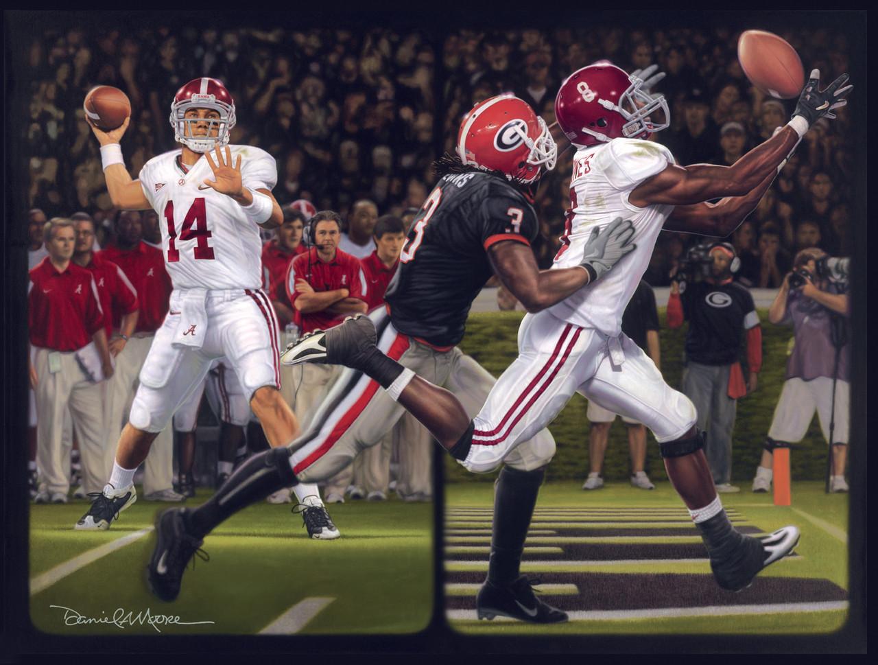 The Blackout Print Editions Alabama Football Vs Georgia 2008 New Life Art