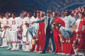 """The Coach and 315"" - Collegiate Classic 8x10 - Coach Paul ""Bear"" Bryant - Alabama Football vs. Auburn 1981"