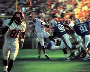 """The Gamebreaker"" - Collegiate Classic 8x10 - Alabama Football vs. Auburn 2001"