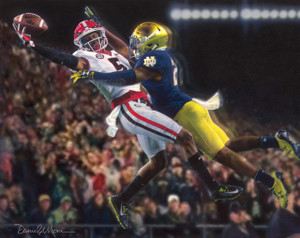 """""""Glory in South Bend"""" - Georgia Football vs. Notre Dame 2017 - Fine Art Editions"""