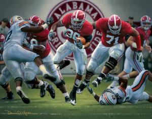 """The Blowout"" - Collegiate Classic 8x10 - Alabama Football vs. Auburn 2008"