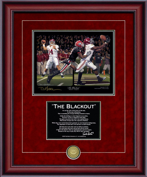 "Print-Poem - ""The Blackout"" - Alabama Football vs. Georgia 2008"