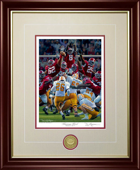 """Maximum Block"" - Collegiate Classic 8x10 - Alabama Football vs. Tennessee 2009"