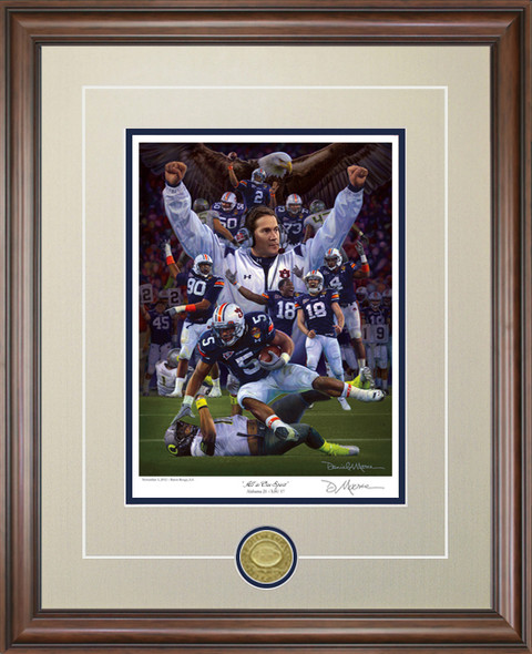 """All In One Spirit"" - Collegiate Classic 8x10 - Auburn Football 2010 National Champions"