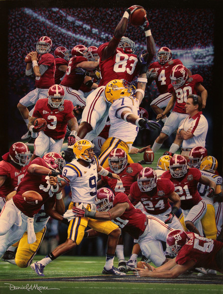 """Restoring the Order ""- Collegiate Classic 8x10 - Alabama Football 2011 National Champions"