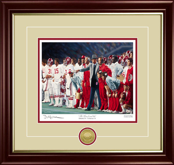 """The Coach and 315"" - Collegiate Classic 8x10 - Coach Paul ""Bear"" Bryant - Alabama Football vs. Auburn 1981"