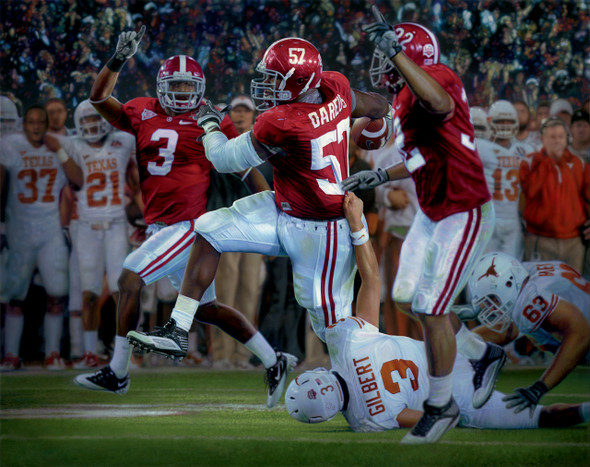 """The Pick Six"" - Collegiate Classic 8x10 - Alabama Football 2009 National Champions"