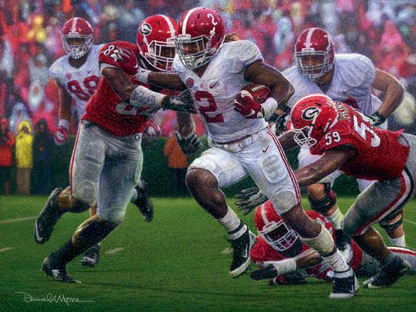 """The Washout"" - Collegiate Classic 8x10 - Alabama Football vs. Georgia 2015 (Derrick Henry)"