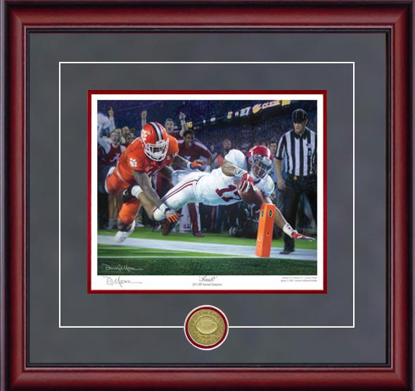 """Finish!"" - Collegiate Classic 8x10 - Alabama Football 2015 National Champions (Kenyan Drake)"